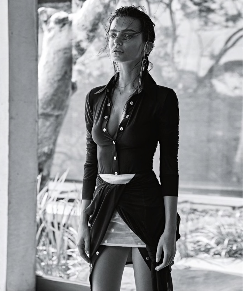 Emily Ratajkowski covers the January 2019 issue of Vogue Australia. Photographed by Nicole Bentley.