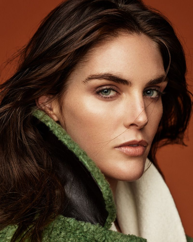 Hilary Rhoda for Vanity Fair Italy's December 2018 issue. Photographed by Jason Kim