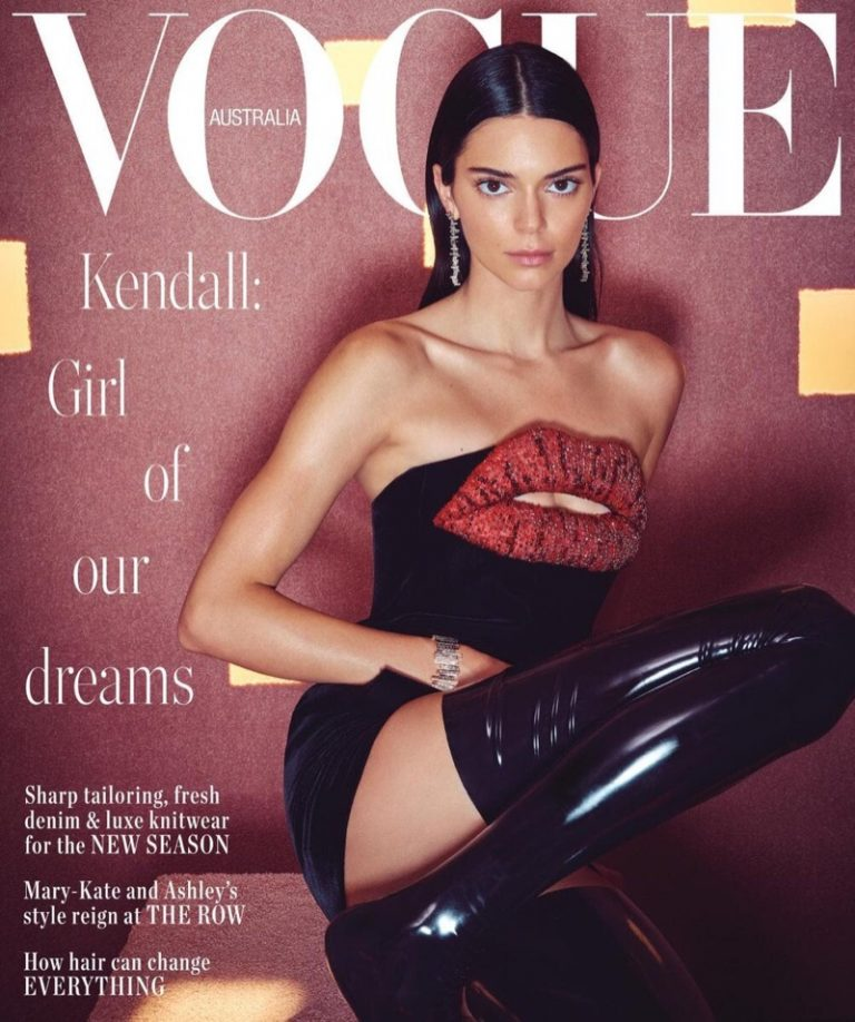 Kendall Jenner covers the June 2019 issue of Vogue Australia. Photographed by Charles Dennington.